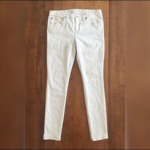 MADEWELL WHITE JEANS Skinny Low Fit SIZE 30 X 32